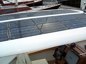 Boot zonnepanelen